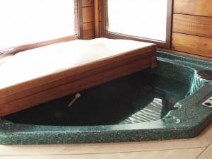Hot tub im Wartezustand