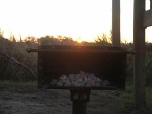Grill vor Sonne