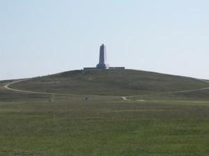 Das Denkmal aus der Ferne