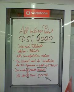 Vodafone Werbeplakat