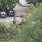 Boklok in Auringen: Rodungsgerät im Einsatz